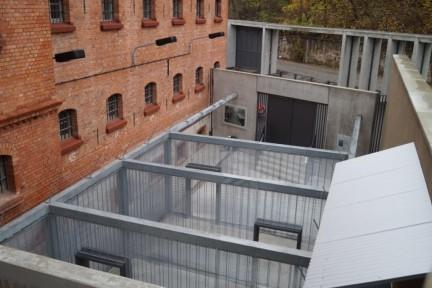 Blick auf den Freihof der Gedenk- und Bildungsstäte Andreasstraße