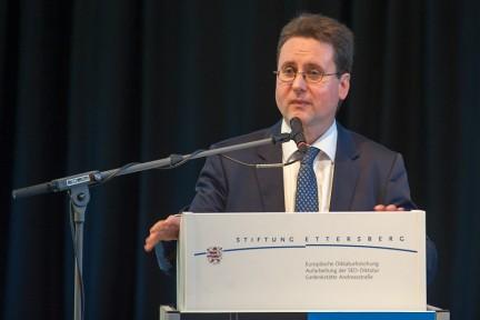 Eröffnungsrede zum 14. Internationalen Symposium durch den Stiftungsvorsitzenden PD Dr. Jörg Ganzenmüller (Foto: Holger John)