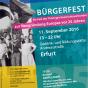 Plakat zu »DenkMAL Europa - Bürgerfest des Thüringer Geschichtsverbundes zur Neugründung Europas vor 25 Jahren«
