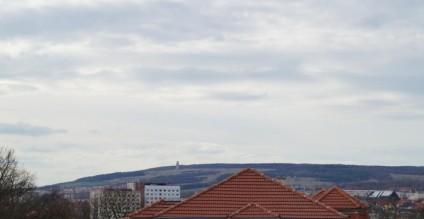 Blick zum Ettersberg vom Haus der Stiftung Ettersberg