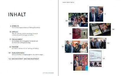 Inhalt des Jahresberichts 2017/18